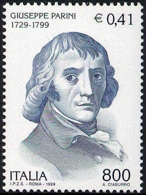 Bicentenario della morte di Giuseppe Parini - poeta - ritratto