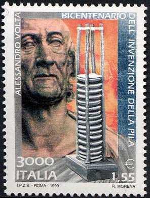 Bicentenario della invenzione della «pila» ad opera di Alessandro Volta