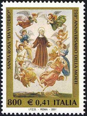 750º anniversario della morte di Santa Rosa da Viterbo - dipinto di F. Podesti