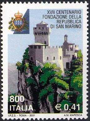 XVII° Cntenario della fondazione della Repubblica di San Marino - la Rocca di San Marino