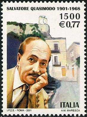 Centenario della nascita di Salvatore Quasimodo - poeta, Nobel nel 1959 - ritratto e casa natale