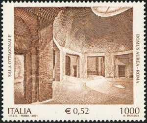 Patrimonio artistico e culturale italiano - La Domus Aurea - La sala ottagonale