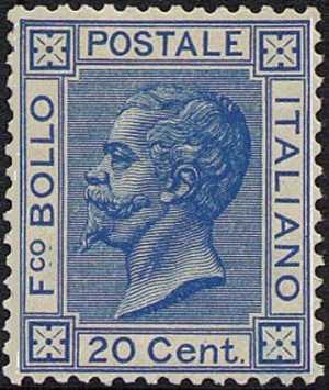 1867 - Effige di Vittorio Emanuele II