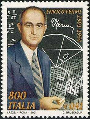 Centenario della nascita di Enrico Fermi - inventore della pila atomica e Nobel nel 1938 - ritratto
