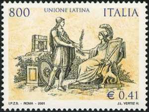 Unione latina - antica incisione