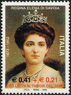 Cinquantenario della morte della Regina Elena di Savoia, moglie di Vittorio Emanuele III - ritratto della Regina