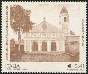 Patrimonio artistico e culturale italiano - Santuario di Santa Maria delle Grazie - Spezzano - facciata