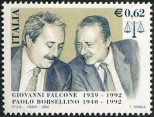 10° Anniversario della strage di Capaci - Omaggio a Giovanni Falcone e Paolo Borsellino - ritratto dei giudici