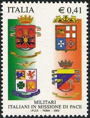 Omaggio ai militari italiani in missione di pace - stemmi delle Forze Armate