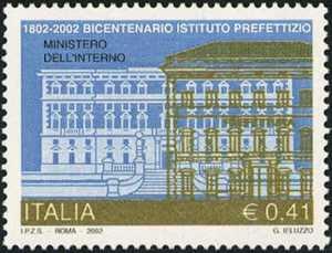Bicentenario della istituzione del Mnistero del'Interno e dell'Istituto prefettizio - il Viminale