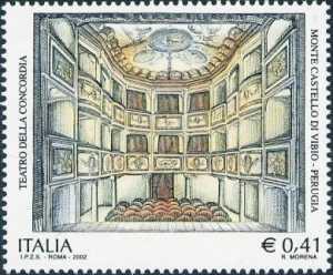 Patrimonio artistico e culturale italiano - Teatro della Concordia, Monte Castello di Vibio - interno del Teatro