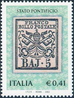 Celebrazioni dei primi francobolli dello Stato Pontificio - «BAJ  2»