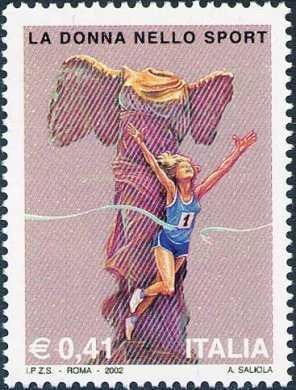 Lo sport Italiano - La donna nello sport - atleta a statua della «Nike di Samotracia»