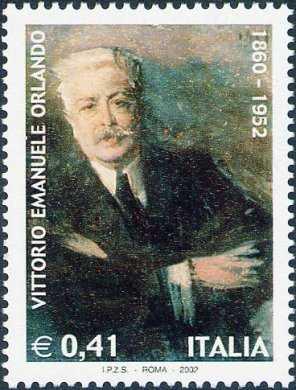 Cinquantenario della morte di Vittorio Emanuele Orlando - statista - ritratto eseguito da G. Boldini