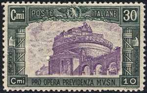 1930 - Pro opera di previdenza M.V.S.N. - 3ª serie - Castel Sant'Angelo