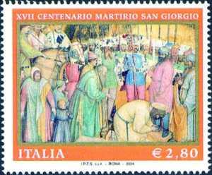 17° Centenario del martirio di S. Giorgio - Opera di Altichiero da Zevio - «Decollazione di S. Giorgio»