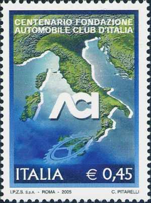 Centenario della fondazione dell'ACI  ( Automobile Club Italia )