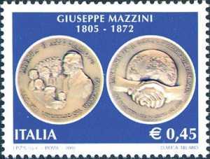 Bicentenario della nascita di Giuseppe Mazzini - uomo politico - moneta commemorativa