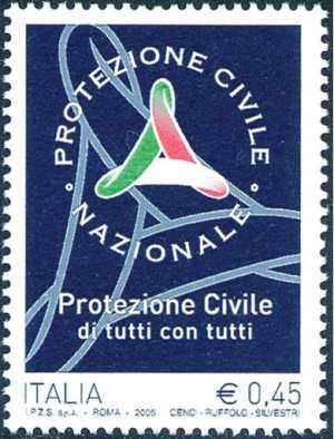 «Le Istituzioni» - 21ª serie - Dipartimento della Protezione Civile - logo