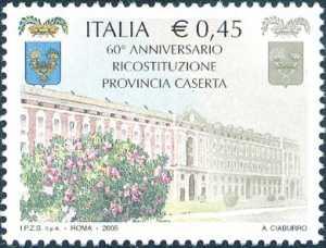 60° Anniversario della ricostituzione della Provincia di Caserta - facciata della Reggia di Caserta