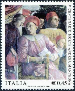 5° Centenario della morte di Andrea Mantegna - particolare dell'affresco «Camera degli sposi»
