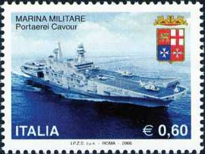 «Le Istituzioni» - 22ª serie - Marina Militare - Portaerei Cavour