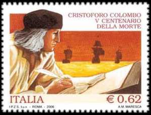 5° Centenario della morte di Cristoforo Colombo - navigatore