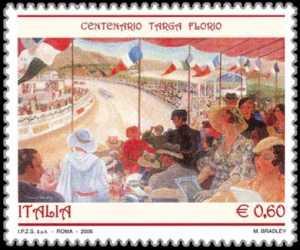Centenario della corsa automobilistica «Targa Florio» - dipinto di Margaret Bradley