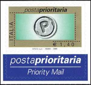 Posta prioritaria - tipo precedente con millesimo 2006 - 1,40 €