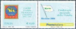 40° Anniversario dell'Unione Stampa Filatelica Italiana  ( USFI ) - emblema