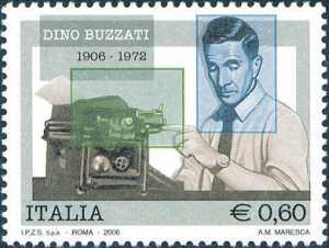 Centenario della nascita di Dino Buzzati - ritratto dello scrittore