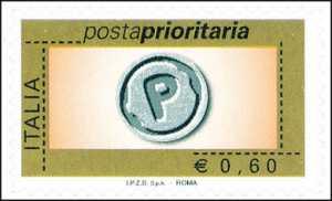 Posta prioritaria - tipo precedente senza etichetta e senza millesimo - 60 c.