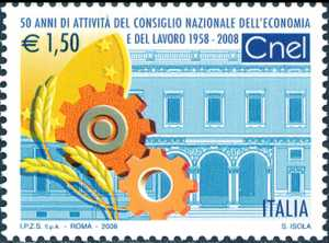 «Le Istituzioni» - 24ª serie - 50 anni di attività del Consiglio Nazionale dell'Economia e del Lavoro ( CNEL ) - villa Lubin, sede del Cnel a Roma
