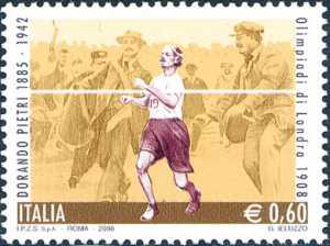 Lo sport italiano - Omaggio a Dorando Petri - maratoneta medaglia d'oro Olimpiadi Londra 1908