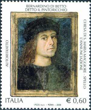 Patrimonio artistico e culturale italiano - Bernardino di Betto detto il Pintoricchio - pittore - autoritratto