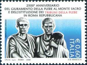 2500° Anniversario dell'istituzione del Tribuno della plebe nella Roma repubblicana - I Gracchi, scultura di E.Guillaume