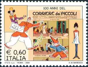 Cento anni del Corriere dei Piccoli - copertina del primo numero