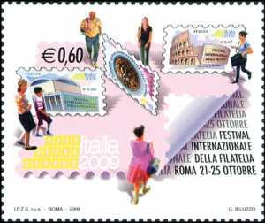 Francobolli e Filatelia - Festival internazionale della filatelia «Italia 2009»  - 60 c.