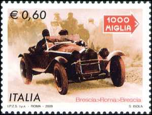 Mille Miglia - Vettura Alfa Romeo durante la Mille miglia del 1931