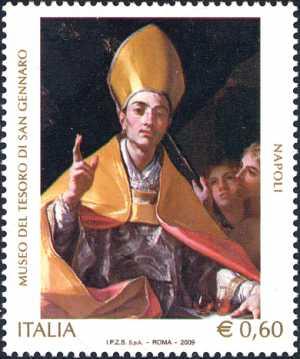Museo del Tesoro di san Gennaro di Napoli - Ritratto del santo, opera di Francesco Solimena