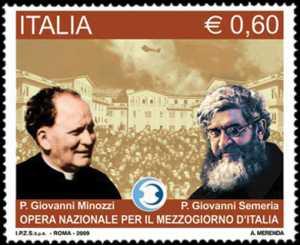 Opera nazionale per il Mezzogiorno d'Italia - Ritratti dei fondatori padre Giovanni Semeria e padre Giovanni Minozzi