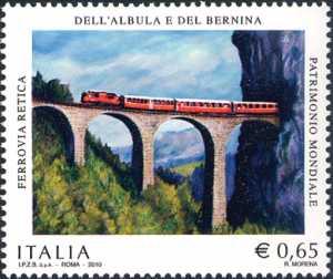 Il patrimonio artistico e culturale italiano - Centenario del completamento della ferrovia retica dell'Albula e del Bernina