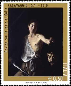 4º Centenario della morte di Michelangelo Merisi, detto «il Caravaggio» - Davide con la testa di Golia