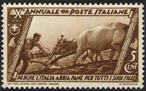 1932 - Decennale della marcia su Roma - La battaglia del grano