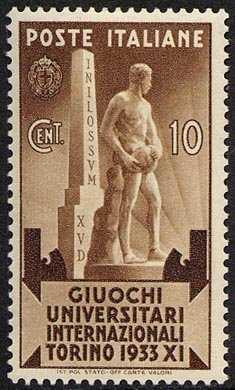1933 - Giuochi Universitari Internazionali  - Torino