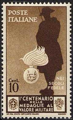 1934 -  Centenario dell'istituzione delle medaglie al valor militare  - Carabinieri