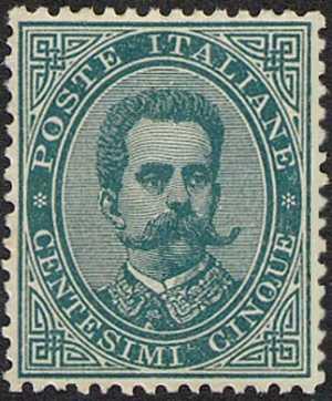 1879 - Effige di Umberto I - valore solo in lettere