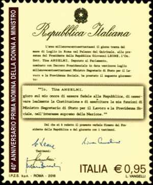 40° anniversario della nomina del primo ministro donna