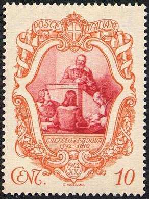 1942 - 3º Centenario della morte di Galileo Galilei - Galileo docente all'università di Padova