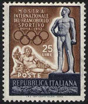 statua del Tevere ed atleta